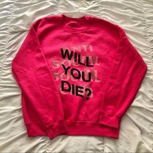 Anti social social club crew neck sweatshirt